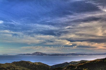Estrecho, atardecer. Sunset, Strait of Gibraltar