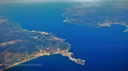 Strait of Gibraltar from above