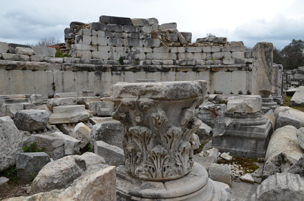 The ruins of the impressive Gymnasium, built in the second quarter of the 2nd century BC to the west