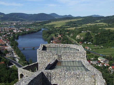 View from the castle. The water is still very high - Strečno - Strečniansky hrad - 84