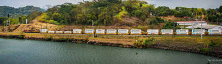 2014 - Panama Canal Transit - Canal Railroad