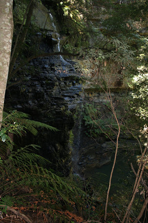 Waterfall at the entrance to Eirth Coal Mine
