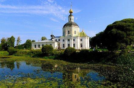 Bogoroditskaya church on river Vyazma