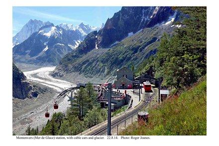 Montenvers (Mer de Glace) station and retreated glacier. 22.8.14