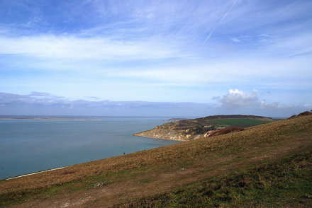 A Lone Walker on the Way to the Needles