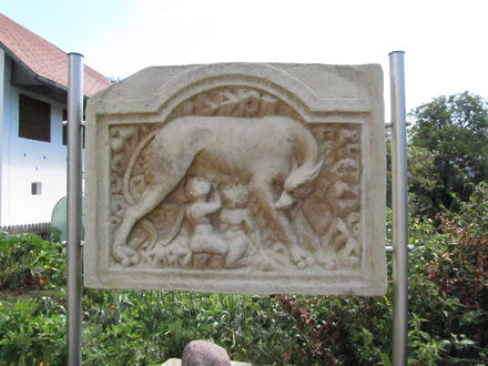 Roman relief stone at Teurnia.