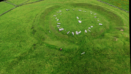 Another Stitched KAP Shot of Arbor Low Henge and Stone Circle, Looking NE
