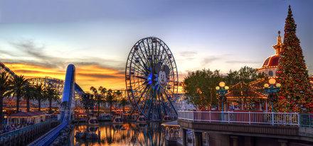 Panorama: California Adventure at Sunset