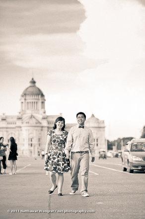 Yenny & Arie Pre-Wedding in Bangkok, Thailand ตัวอย่างภาพคู่แต่งงานถ่ายในกรุงเทพ ( Photo by Natt