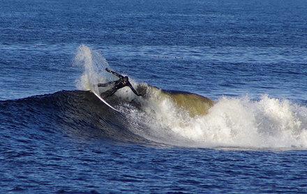 Surfer at Thurso east 270308