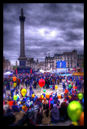Balloons in Trafalgar Square