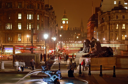 Trafalgar Square by night #3