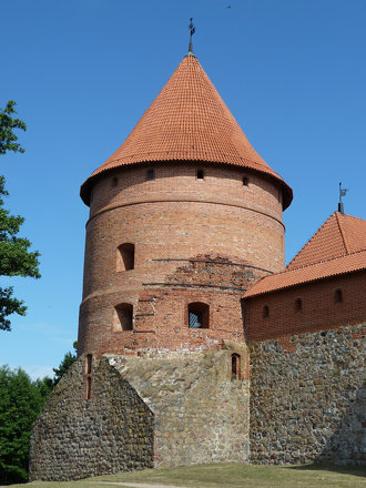 Trakai, Lithuania, Island Castle, Corner Tower
