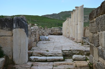 The Southern Fortification Gate 2 opening onto the the Western Portico of the Late Roman Agora, Trip