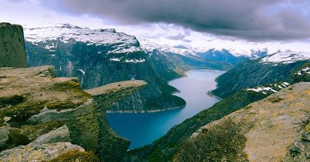 Trolltunga in June 2012