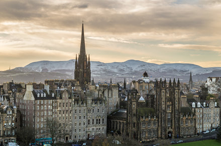 Tron Kirk from the Scott Monument