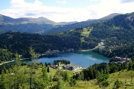 Blick auf den Turracher See, Turracher Höhe, Kärnten, Österreich