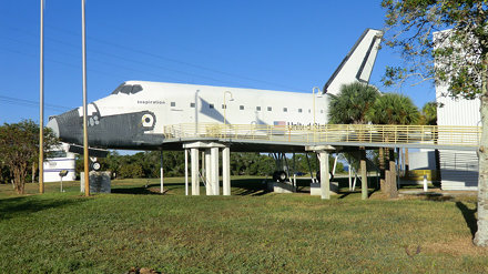 Mockup of a Space Shuttle at American Astronaut Hall of Fame, Cape Canaveral
