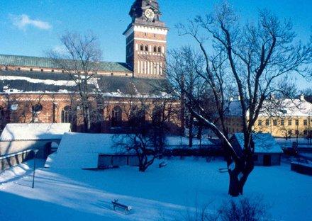 Vasteras 30 - Duomo con la neve