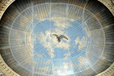 2010.08.22.095 VAUX-le-VICOMTE - Salon ovale - plaond qui devait être peint la Le Brun