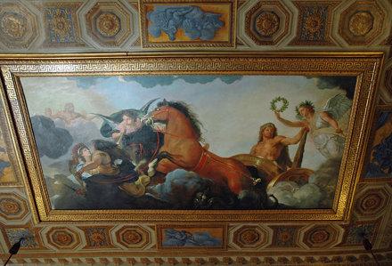 2010.08.22.090 VAUX-le-VICOMTE - Le château - Appartements - Antichambre d'Hercules - Plafond -