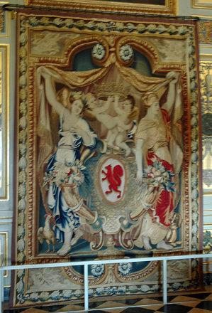 2010.08.22.091 VAUX-le-VICOMTE - Le château - Appartements - Antichambre d'Hercules - Tapisseri