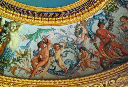 2010.08.22.118 VAUX-le-VICOMTE - Le cabinet du roi - voussure du plafond