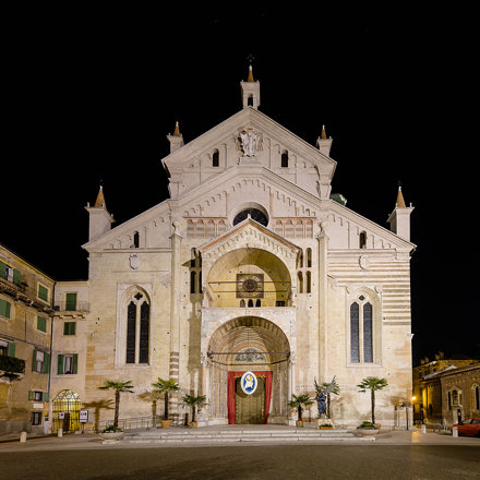Facade of the Cathedral of Verona