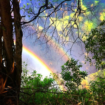Double Rainbow. 虹ダブル増し増しで #africa
