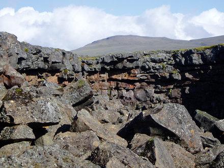the opening of  cave Víðgelmir.