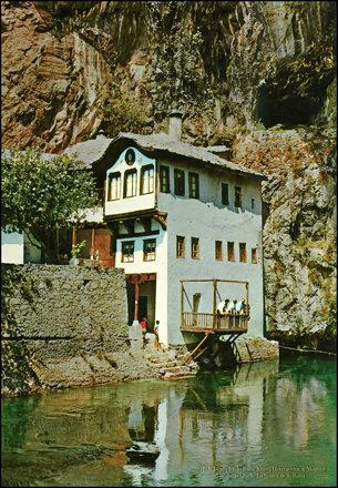 0049 R Blagaj Vrelo Bune Muzej Hercegovine u Mostaru Die Buna Quelle La Souice de la Buna Turistkome