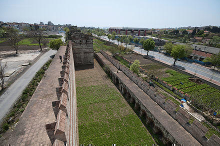 The Theodisan Walls of Constantinople (Istanbul), Turkey