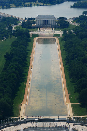 The Lincoln Memorial as Seen from Washington Monument