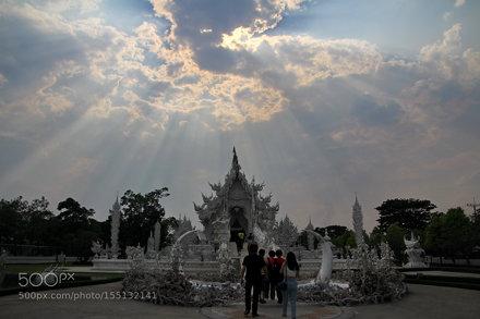 Jesus light in Wat Rong Khun