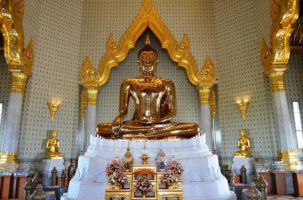 Bangkok.Wat Traimit.Le Bouddha d'Or.01
