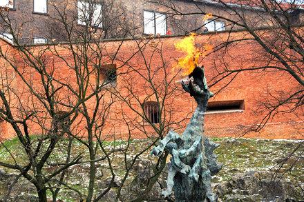 The Wawel walls & the Dragon
