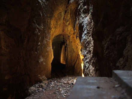 Inside the phosphate mine