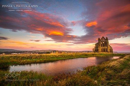 whitby abbey yorkshire taken at Sunrise
