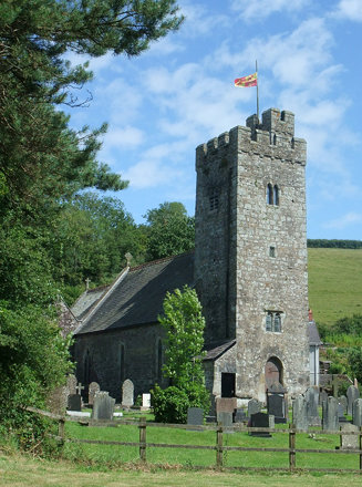 Llanddowror Church, Carmarthenshire, Wales