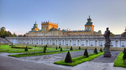 Wilanow Palace in Warsaw at sunset tonight HDR