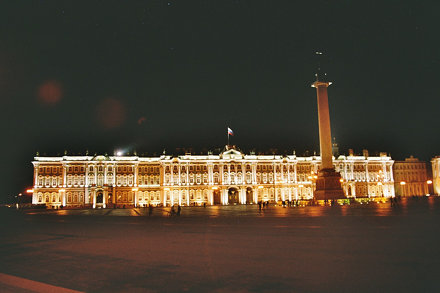 St Petersburg, Winter Palace by night