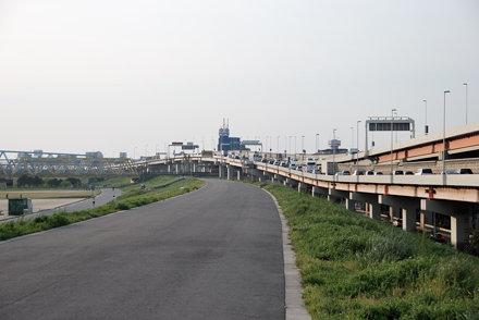 View of the Arakawa River Bank in Kosuge