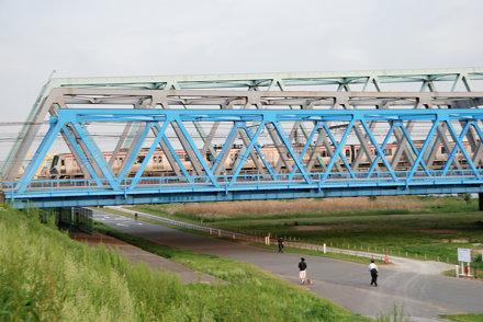North End of Three Truss Bridges