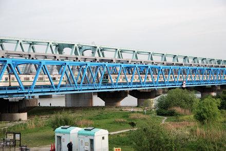 Three Railroad Truss Bridges across the Arakawa River