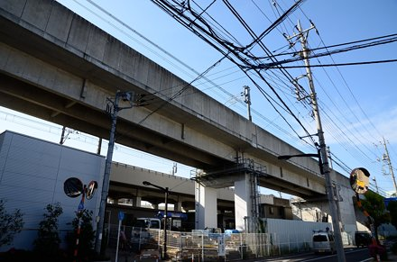 Elevated Railroads of JR and Tsukuba Express in Kita-senju
