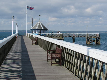 Yarmouth: View from the pier (Isle of Wight)