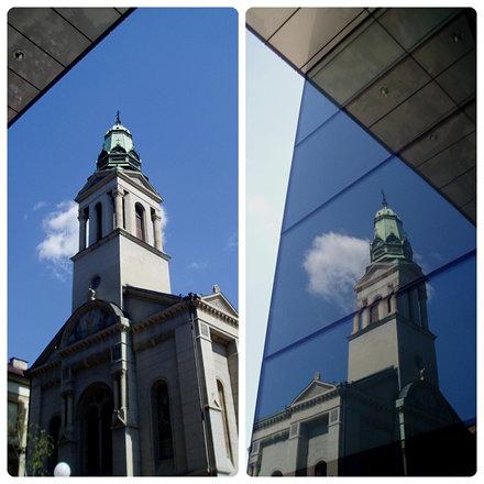 Crkva + odraz  ,    Church + reflection