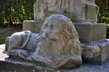 Romanesque lion sculpture in Czchow