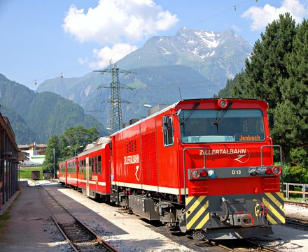 Mayrhofen, train to Jenbach