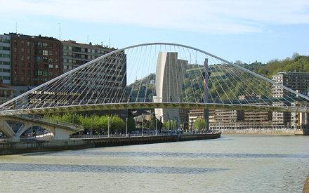 La passerelle Zubizuri (Bilbao)